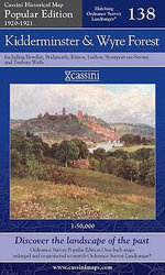Kidderminster and Wyre Forest : Cassini Popular Edition Historical Map