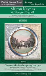 Milton Keynes & Newport Pagnell (PPR-MIK) : Four Ordnance Survey Maps from Four Periods from Early 19th Century to the Present Day - Francis Herbert