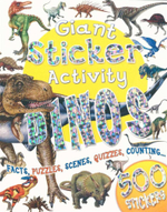 Giant Sticker Activity : Dinos : Facts, Puzzles, Scenes, Quizzes, Counting ...