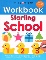 Starting School : Wipe Clean Workbook - Includes Wipe-Clean pen - Roger Priddy