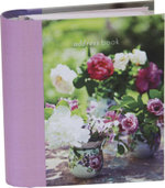 Homespun Peonies and Roses Mini Address Book - Paperstyle