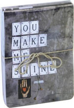You Make Me Shine Mini Flip-top Notebooks : Flexi cover, held together with twine and sealed in a transparent bag - RPS