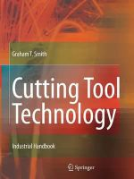 Cutting Tool Technology : Industrial Handbook - Graham T. Smith