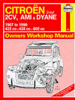 Citroen 2 Cylinder, 2CV Ami and Dyane 1967-90 Owner's Workshop Manual - Ian Coomber
