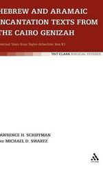 Hebrew and Aramaic Incantation Texts from the Cairo Genizah : Selected Texts from Taylor-Schechter Box K1 - Lawrence H. Schiffman