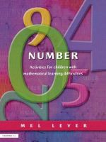 Number : Activities for Children with Mathematical Learning Difficulties - Mel Lever