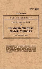 Standard Military Motor Vehicles - War Department