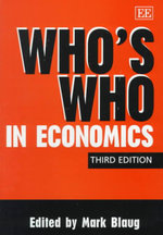 Who's Who in Economics : A Complete Guide to the People on St Helena During...