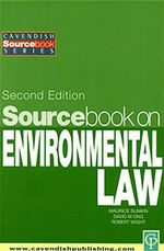 Sourcebook on Environmental Law - David Ong