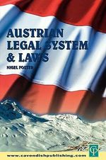 Austrian Legal System - Nigel Foster