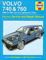 Volvo 740 and 760 (Petrol) 1982-91 Service and Repair Manual - Matthew Minter
