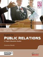 English for Public Relations in Higher Education Studies : Writing in English for Non-Native Speakers - Marie McLisky
