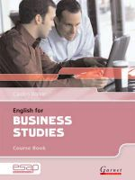English for Business Studies in Higher Education Studies - Carolyn Walker
