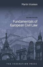 Fundamentals of European Civil Law - Martin Vranken