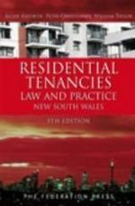 Residential Tenancies Law and Practice - New South Wales : 5th Edition - Allan Anforth