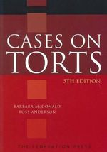 Cases on Torts - Barbara McDonald