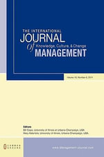 The International Journal of Knowledge, Culture and Change Management : Volume 10, Number 8