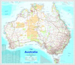 Australia Large Laminated Tube - Hema Maps Australia