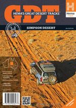Great Desert Tracks Simpson Desert Sheet Map - Hema Maps
