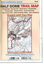 Half Dome Trail Map : Shaded-Relief Topo Map - Tom Harrison