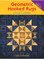 Geometric Hooked Rugs : Color & Design - Gail Dufresne