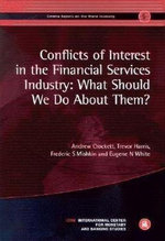 Conflicts of Interest in the Financial Services Industry : Geneva Reports on the World Economy 5 - Frederic S. Mishkin