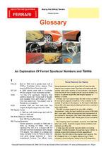 Ferrari Glossary - Chris Mellor