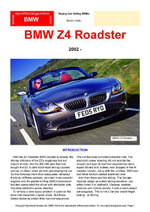 BMW Z4 Roadster Buyers' Guide - Chris Mellor