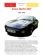 Aston Martin DB7 Buyers' Guide - Chris Mellor