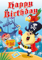 Cardooo: Activity Birthday card - Pirates - Mark Davis