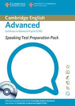 Speaking Test Preparation Pack for CAE Paperback with DVD - University of Cambridge ESOL Examinations