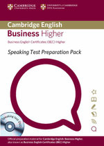 Speaking Test Preparation Pack for BEC Higher Paperback with DVD - University of Cambridge ESOL Examinations