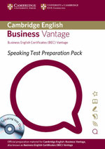 Speaking Test Preparation Pack for BEC Vantage Paperback with DVD - University of Cambridge ESOL Examinations