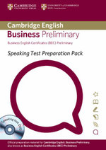 Speaking Test Preparation Pack for BEC Preliminary Paperback with DVD - University of Cambridge ESOL Examinations