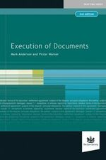Execution of Documents - Mark Anderson