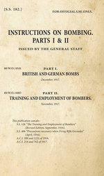 Instructions on Bombing: Parts I & II : SS182 - General Staff