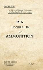 R.L. Handbook of Ammunition : War Office Publications - War Office