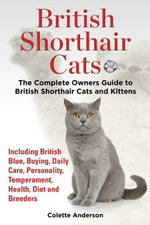 British Shorthair Cats, The Complete Owners Guide to British Shorthair Cats and Kittens  Including British Blue, Buying, Daily Care, Personality, Temp - Colette Anderson