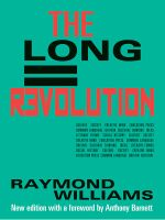 The Long Revolution - Raymond Williams