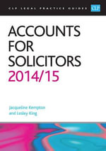 Accounts for Solicitors 2014/2015 - Lesley King