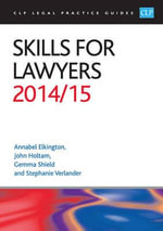 Skills for Lawyers 2014/2015 - Annabel Elkington