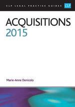 Acquisitions 2015 - Marie-Anne Denicolo