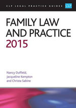 Family Law and Practice 2015 - Nancy Duffield