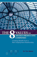 The 8 Values of Highly Productive Companies : Creating Wealth from a New Employment Relationship - Tim Baker