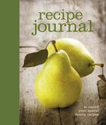 Recipe Journal - Alicat Publishing Staff