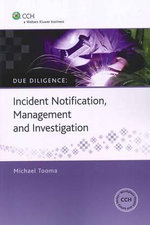 Incident Notification, Management and Investigation : CCH Code 39380A - Michael Tooma