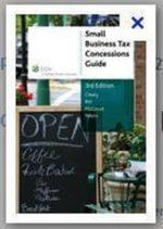 Small Business Tax Concessions Guide : CCH Code 39421A - Philip McCouat