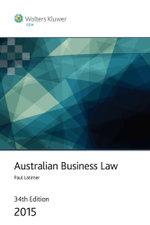 Australian Business Law 2015 - Paul Latimer