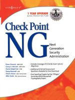 CheckPoint Next Generation Security Administration : Next Generation Security Adminstration - Lawrence Pingree