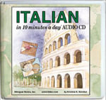 Italian in 10 Minutes a Day Audio CD Wallet - Library Edition : 10 Minutes a Day - Kristine K. Kershul